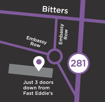 San Antonio Embassy Location Map